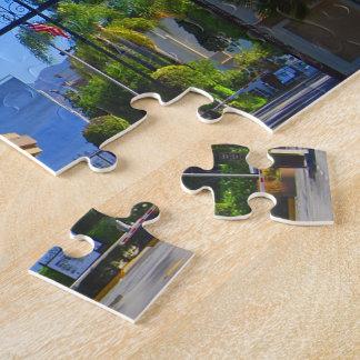 Exterior Gates At Iconic Hollywood Studio Puzzle