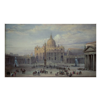 Exterior of St. Peter's Poster