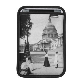 Exterior of the Capitol building with women iPad Mini Sleeve
