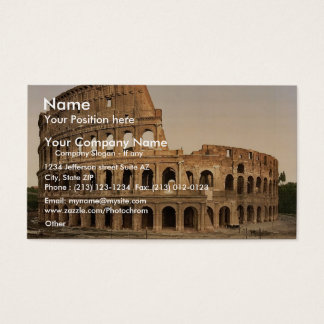 Exterior of the Coliseum, Rome, Italy classic Phot Business Card