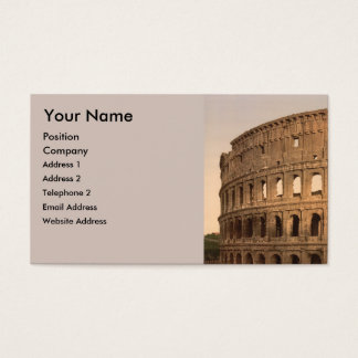 Exterior of the Colosseum, Rome, Italy Business Card