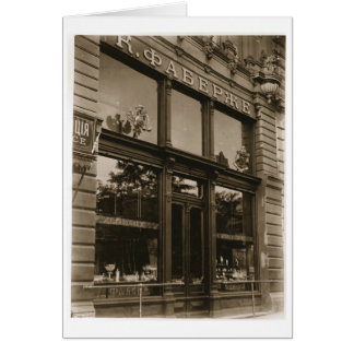 Exterior of the Faberge Shop, St. Petersburg, earl Card