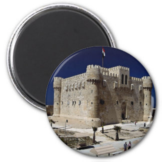 Exterior of the Fort of Qaitbay, Alexandria, Egypt Magnet