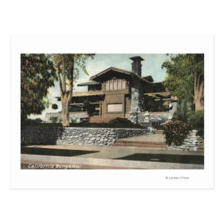 Exterior View of a Californian Bungalow Postcard