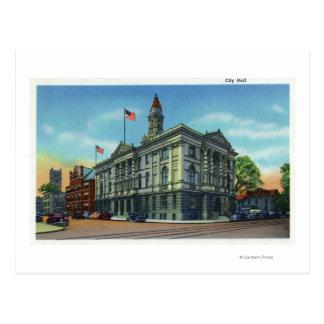 Exterior View of City Hall 3 Postcard