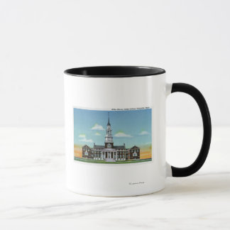 Exterior View of Colby College Miller Library Mug