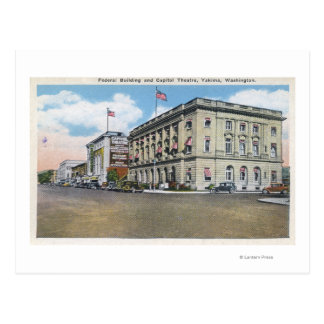 Exterior View of Federal Bldg Capitol Theatre Postcards