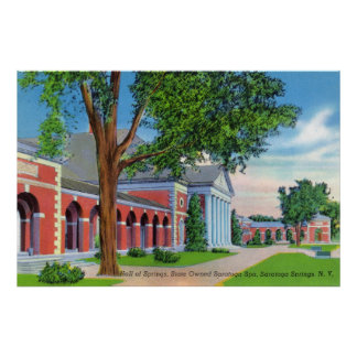 Exterior View of Hall of Springs and Grounds Poster