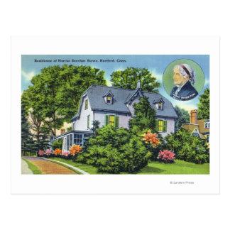Exterior View of Harriet Beecher Stowe's Postcard