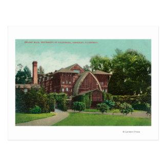Exterior View of Hearst Hall, U of CA Postcard