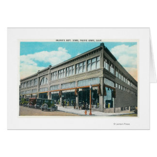 Exterior View of Holman's Department Store Greeting Card