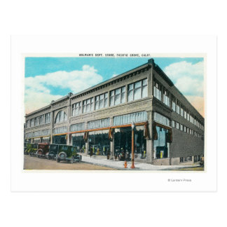 Exterior View of Holman's Department Store Postcard
