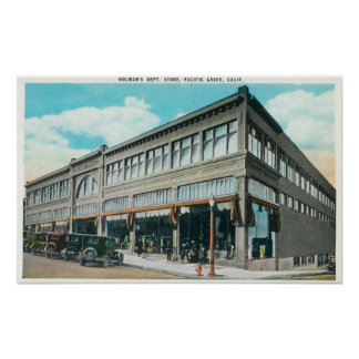 Exterior View of Holman's Department Store Poster