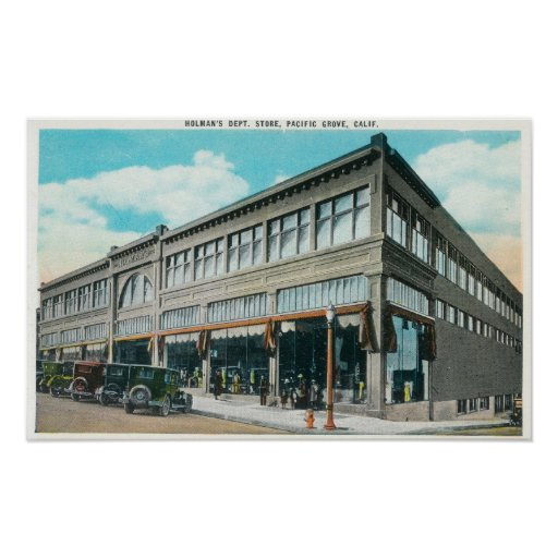 Exterior View of Holman's Department Store Print