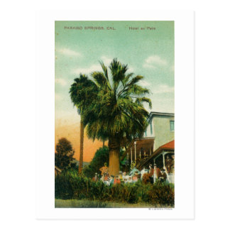 Exterior View of Hotel au Palm Postcard