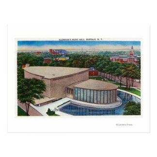 Exterior View of Kleinhan's Music Hall Postcard