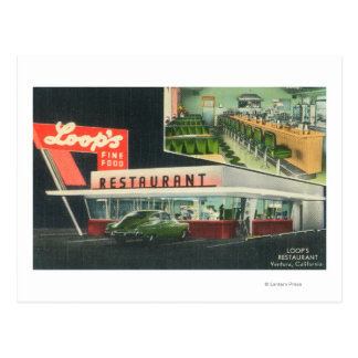Exterior View of Loop's RestaurantVentura, CA Postcard