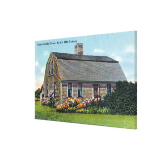 Exterior View of Myles Standish House Canvas Print