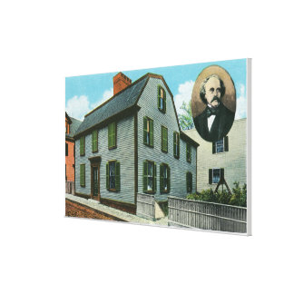 Exterior View of Nathaniel Hawthorne's Gallery Wrapped Canvas