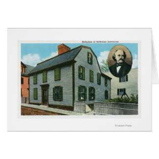 Exterior View of Nathaniel Hawthorne's Greeting Card