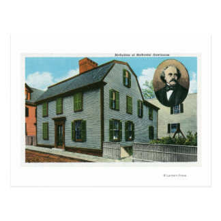 Exterior View of Nathaniel Hawthorne's Postcard