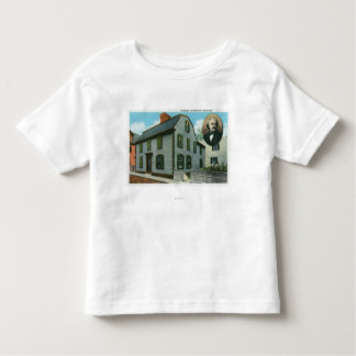Exterior View of Nathaniel Hawthorne's Toddler T-shirt