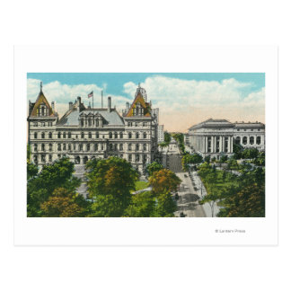 Exterior View of State Capitol & Educational Postcard
