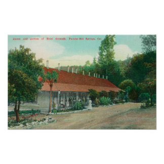 Exterior View of the Annex and the Hotel Grounds Posters