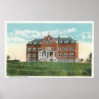 Exterior View of the Benedictine Sanitarium Poster
