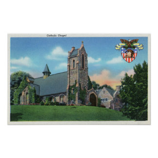 Exterior View of the Catholic Chapel Poster