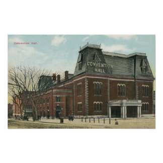 Exterior View of the Convention Hall Print