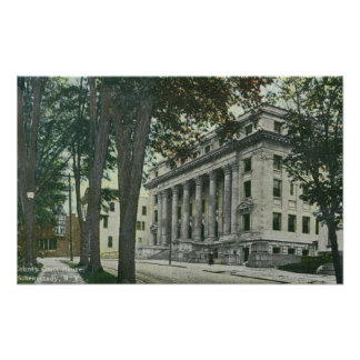 Exterior View of the County Court House Poster