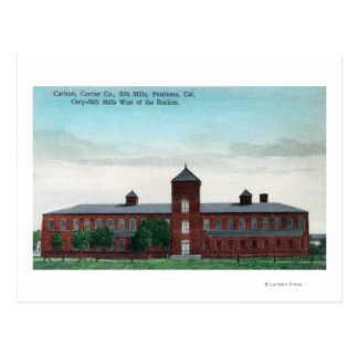 Exterior View of the Currier Co Silk Mills Postcard