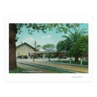 Exterior View of the DepotHealdsburg, CA Postcard