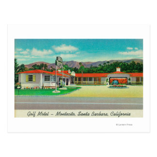 Exterior View of the Golf Motel, Montecito Postcard