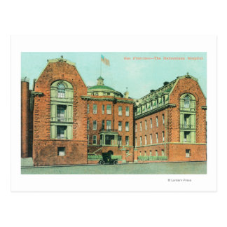 Exterior View of the Hahnemann Hospital Postcard
