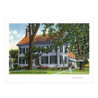 Exterior View of the Harriet Beecher Stowe House Postcard