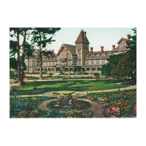 Exterior View of the Hotel del Monte and Grounds Canvas Prints