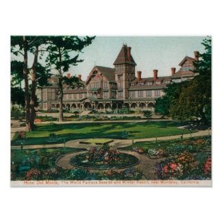 Exterior View of the Hotel del Monte and Grounds Print