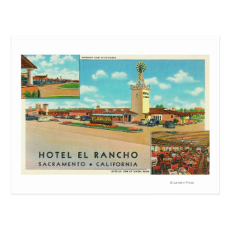 Exterior View of the Hotel el Rancho Postcard