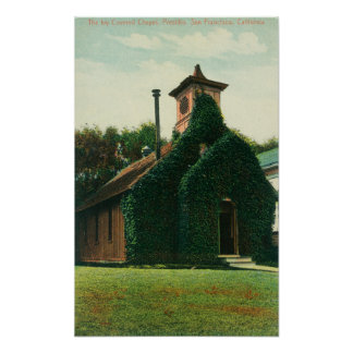 Exterior View of the Ivy Covered Chapel, Poster