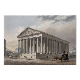 Exterior view of the Madeleine, Paris Poster