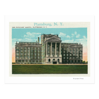 Exterior View of the New Physician's Hospital Postcard