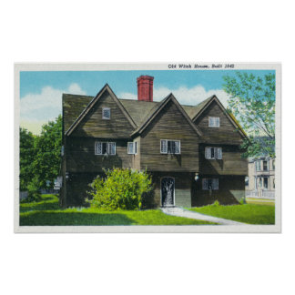 Exterior View of the Old Witch House Print