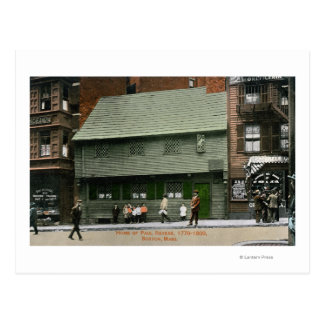 Exterior View of the Paul Revere House # 4 Postcard
