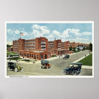 Exterior View of the Remington Arms, UMC Poster
