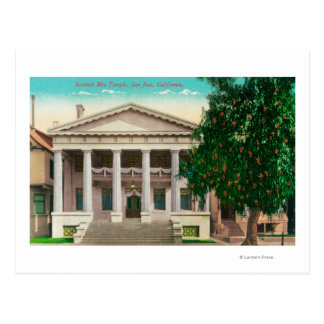 Exterior View of the Scottish Rite Temple Postcard