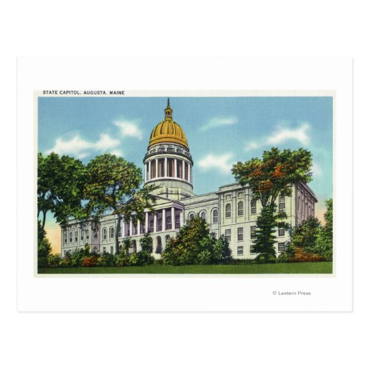 Exterior View of the State Capitol Building # 2 Postcard
