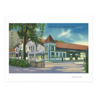 Exterior View of the State Drink Hall Postcard
