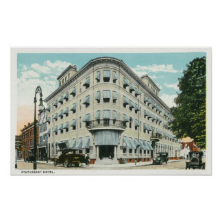 Exterior View of the Stuyvesant Hotel Poster